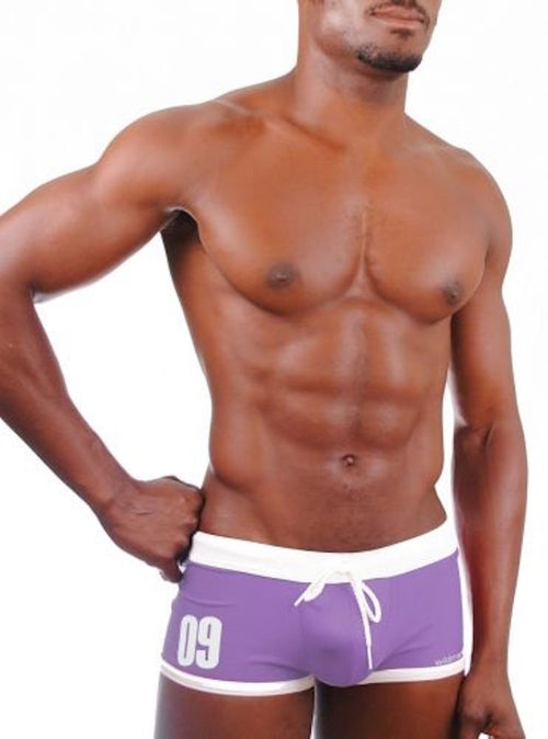 Wildmant Jersey Swim Trunks - Purple
