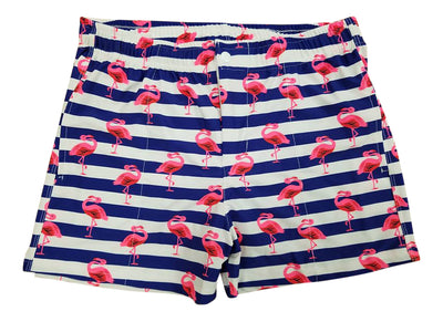 LASC Striped Flamingo Malibu Swim Shorts, NL20115P