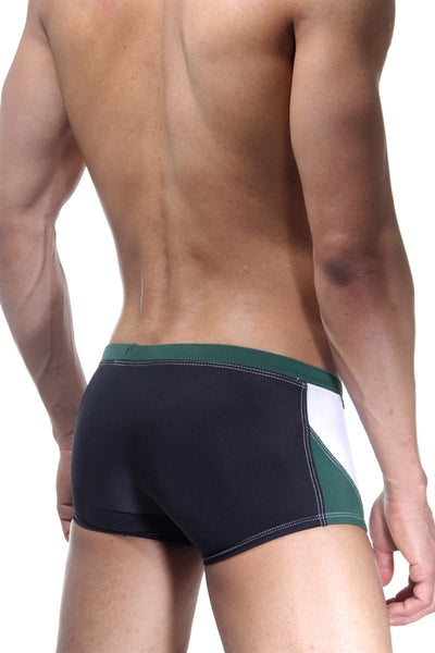 BWET Santa Monica Swim Boxers 15328 - Black Green