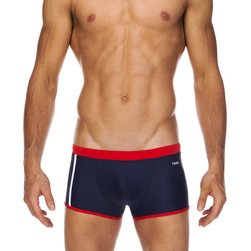 Tribe Swimwear Indian Trunk - Navy/Red