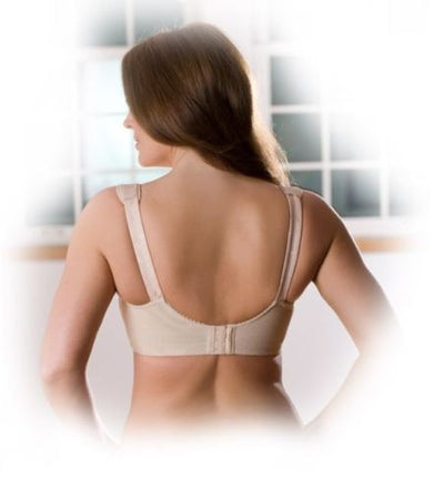 Elila Jacquard Cushioned Strap Softcup Bra - Nude