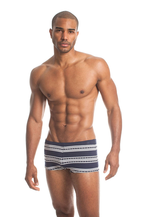 Mr. Turk Multi Stripe Knit Sorrento Trunk Navy