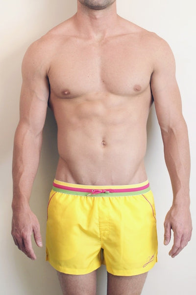 2eros Signature Stripe Beach Shorts - Candy