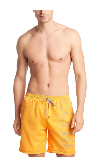 Hugo Boss Killifish Quick Dry Logo Board Shorts - Yellow