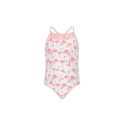 Snapper Rock Girl's Golden Flamingo Swimsuit 1335