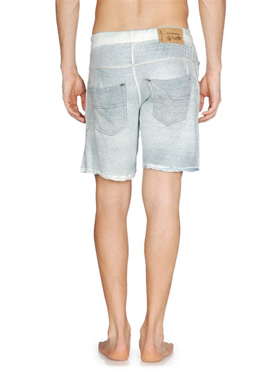 Diesel Kroo Out Of Water Sweatpant Style Cotton Shorts - Cobalt