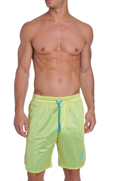 Diesel Men's Reversible Vega Swim Shorts - Lime Green/Teal