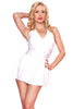 Esther Williams Retro Marilyn Halter Swimdress E08001 - White