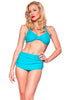 Esther Williams Retro High Waisted Solid Two-Piece Swimsuit Bottom E09001P - Teal