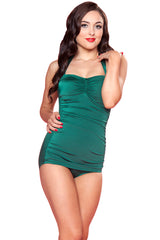 Esther Williams Classic Sheath Solid Color Swim Suit E11001 - Green