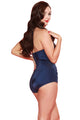 Esther Williams Classic Sheath Solid Color Swim Suit E11001 - Navy