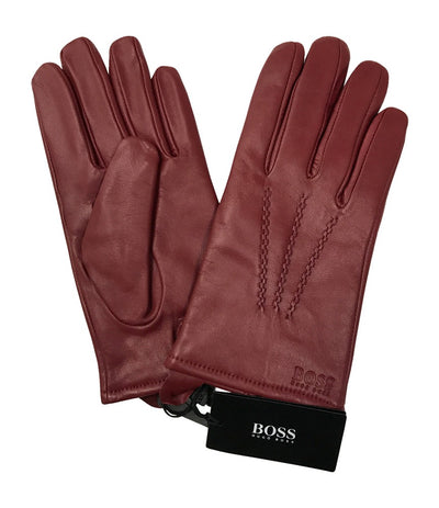 Hugo Boss Haindt1 Lambskin Gloves 50274259, Red