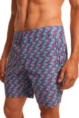 Mr. Turk Safari Zig Zag Board Shorts, M170107