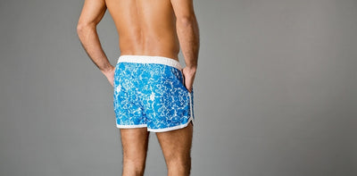 Frank Dandy Saint Paul Swim Shorts - Paint Job Blue