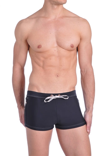 Diesel Aloha Black Swim Trunks - OOCEMTOCAKQ