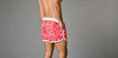 Frank Dandy Saint Paul Swim Shorts - Paint Job Red