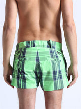 Diesel Plaid Chinobeach Swim Short - Lime Green