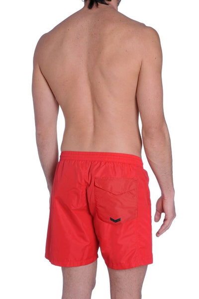 Diesel Men's Wave-E Mohican Logo Swim Short 00SMNK0KAKX - Red
