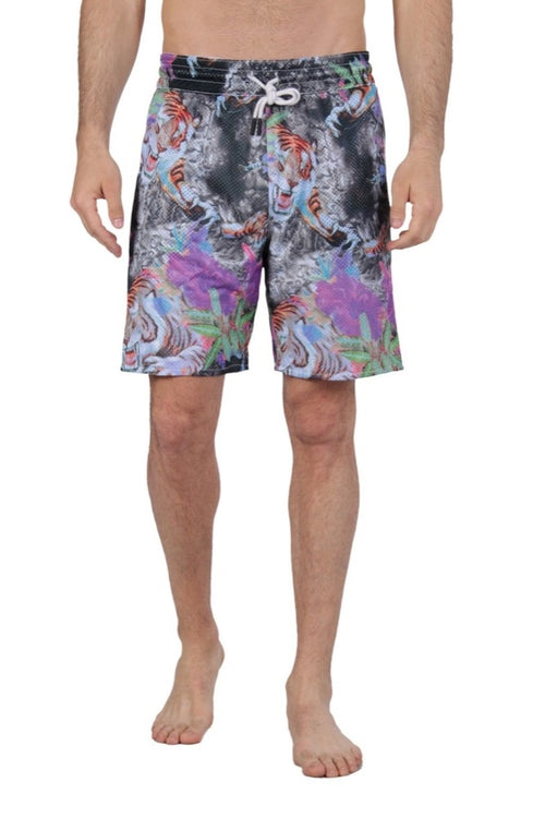 Diesel Men's Reversible Swim Shorts Vega 00SFLY0DALY - Pale/Grey