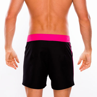 Tribe Swimwear Breaker Boardshorts with Liner - Black/Pink