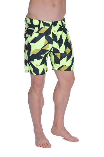 Diesel Men's Kroobeach Swim Shorts  - Yellow