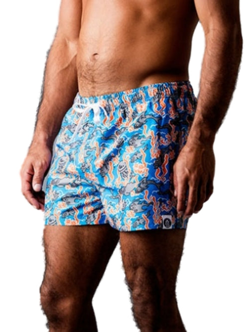 Frank Dandy Leo Lyxxx Fishy Swim Shorts 11106 - Blue