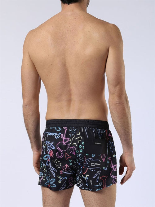 df98e0ae58 ... Diesel Men's Sandy 2.017 Swim Shorts 00SV9T0IANS - Black/Multi ...
