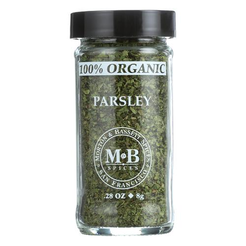 Morton and Bassett Parsley - Organic - Parsley - Case of 3 - 0.28 oz.
