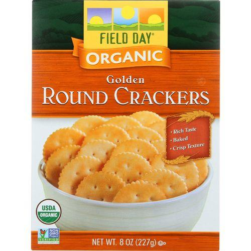 Field Day Crackers - Organic - Golden Round - 8 oz - case of 12