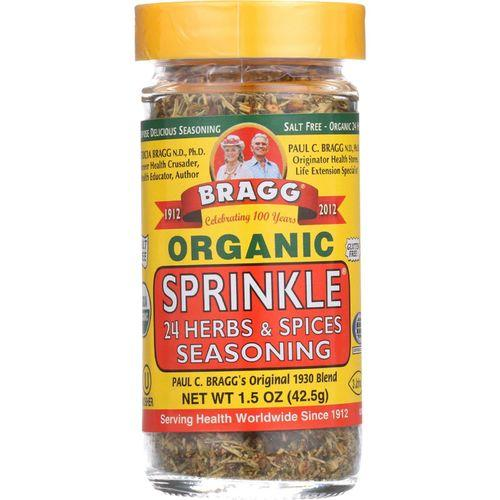 Bragg Seasoning - Organic - Bragg Sprinkle - Natural Herbs and Spices - 1.5 oz - case of 12