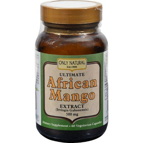 Only Natural Ultimate African Mango Extract - 500 mg - 60 Vegetarian Capsules
