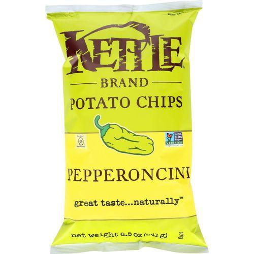 Kettle Brand Potato Chips - Pepperoncini - 8.5 oz - case of 12