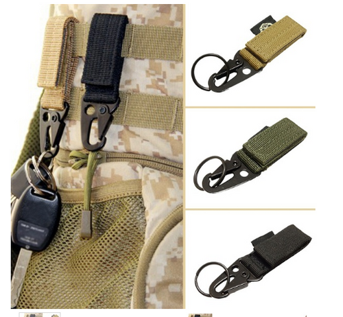 Carabiner Lock Stength Key Hook Webbing Molle Outdoor Hanging Belt Clip Buckle
