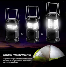 PORTABLE AND COLLAPSIBLE 30 LED CAMPING LANTERNS