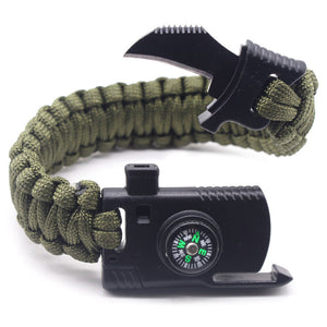 FREE Braided Bracelet Men Women Multi-function Paracord Survival Bracelet