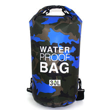 Outdoor Bag Camouflage Portable Rafting Diving Dry Bag Sack PVC Waterproof Folding Swimming Storage Bag for River Trekking 30L