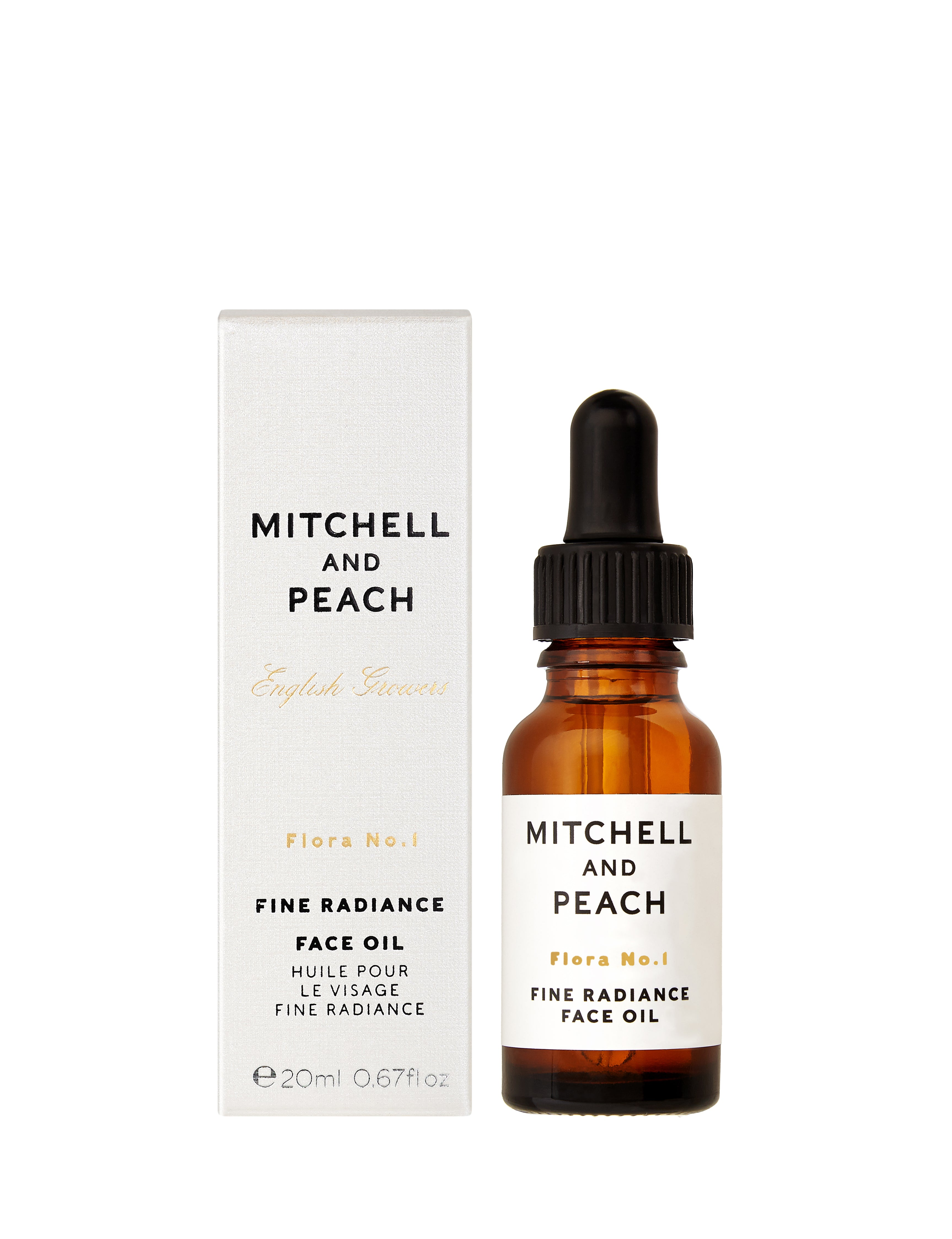 flora no 1 fine radiance face oil mitchell and peach