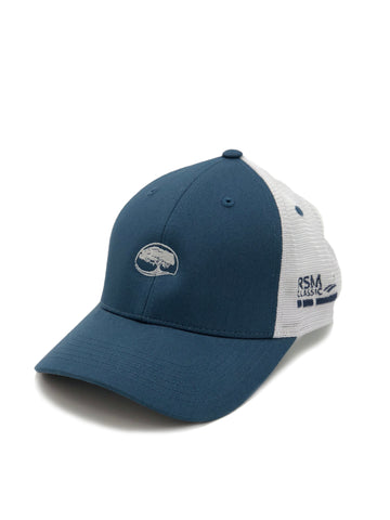 Golden Isles Co-Logo Mesh Hat Breaker Blue