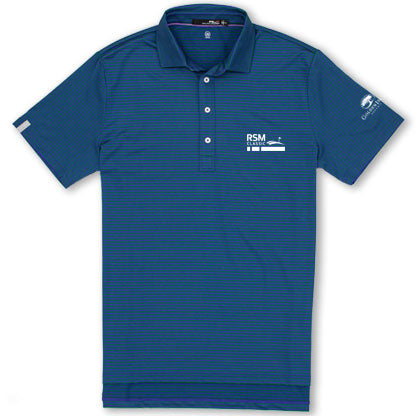 RSM Co-Logo Airflow Polo Green Stripe