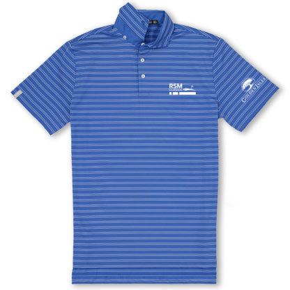 RSM Co-Logo Airflow Polo New England Stripe