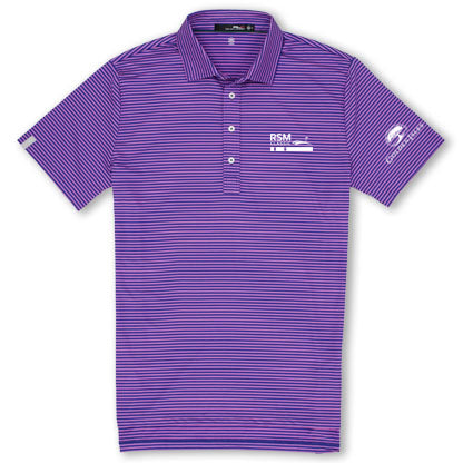RSM Co-Logo Airflow Polo Hibiscus Stripe