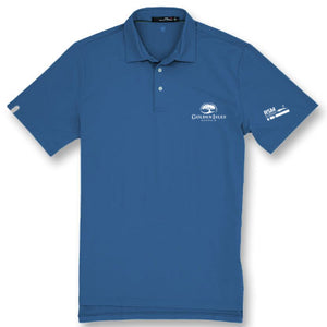 Golden Isles Co-Logo Airflow Polo Fog Blue