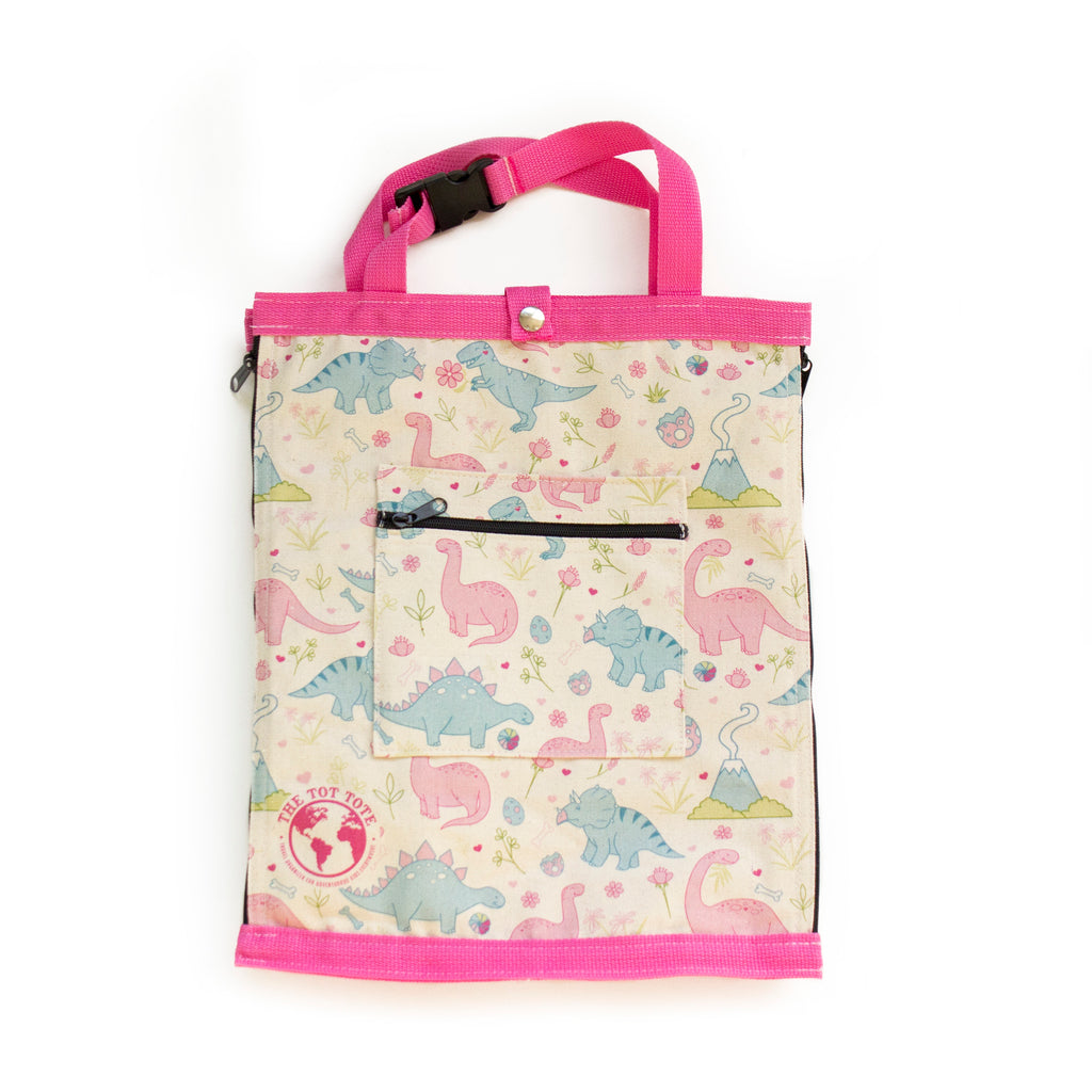 Pink Dinosaur Toddler Tote - The Rollie Pollie