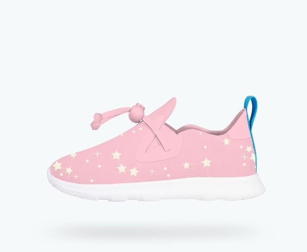 Princess Pink AP Moc Print Native Shoes (Star Glow!) - The Rollie Pollie