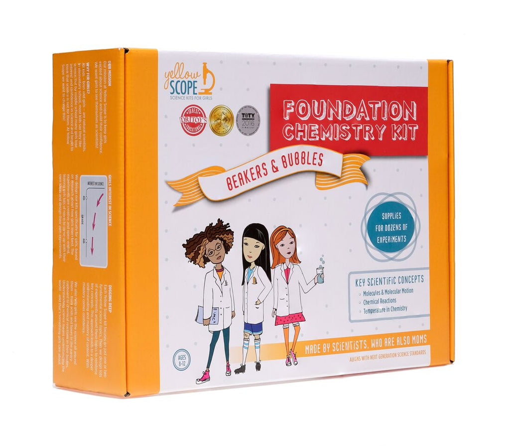 Yellow Scope - Foundation Chemistry Kit: Beakers & Bubbles - The Rollie Pollie