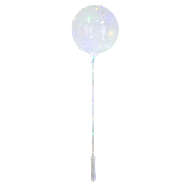 Clear Ballon with LED String Lights with Stick and Handle - The Rollie Pollie