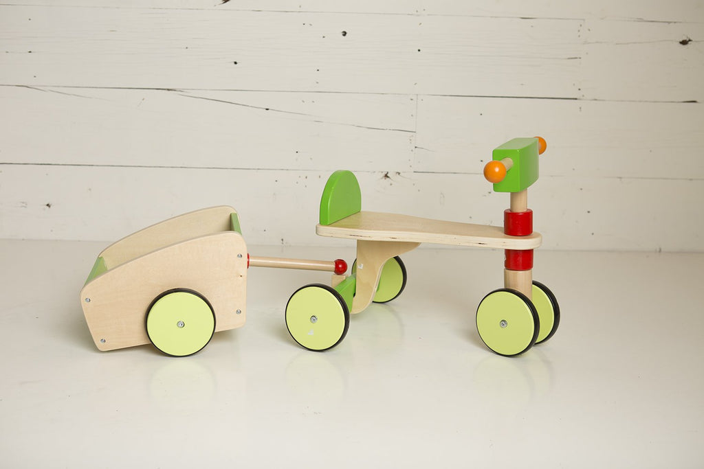 london-kate - Wooden Scooter - With Trailer - The Rollie Pollie
