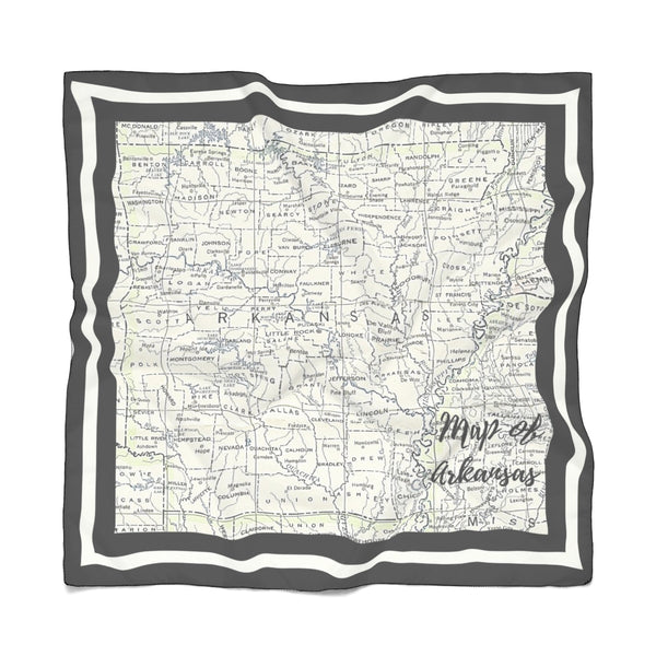 Map of Arkansas Scarf - The Rollie Pollie
