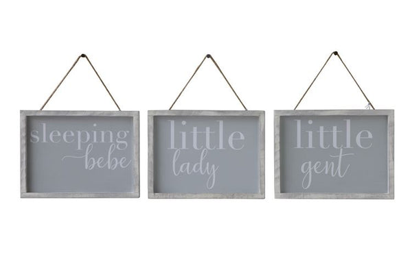 Wood Framed Wall Decor with Saying, 3 Styles