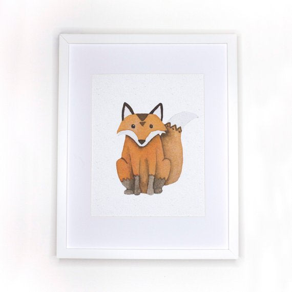 Boho Fox Print Nursery Decor - The Rollie Pollie